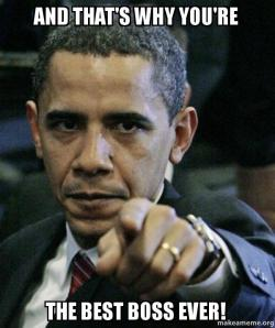 and thats why shhojc and that's why you're the best boss ever! angry obama make a meme