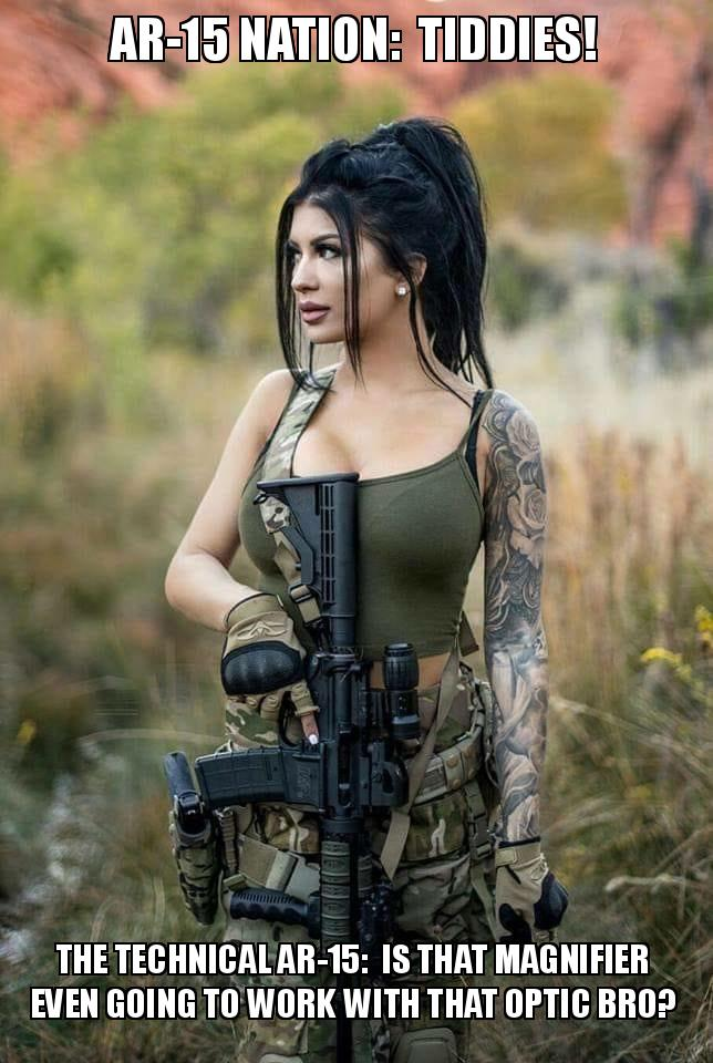 AR-15 NATION: TIDDIES! The Technical AR-15: Is that