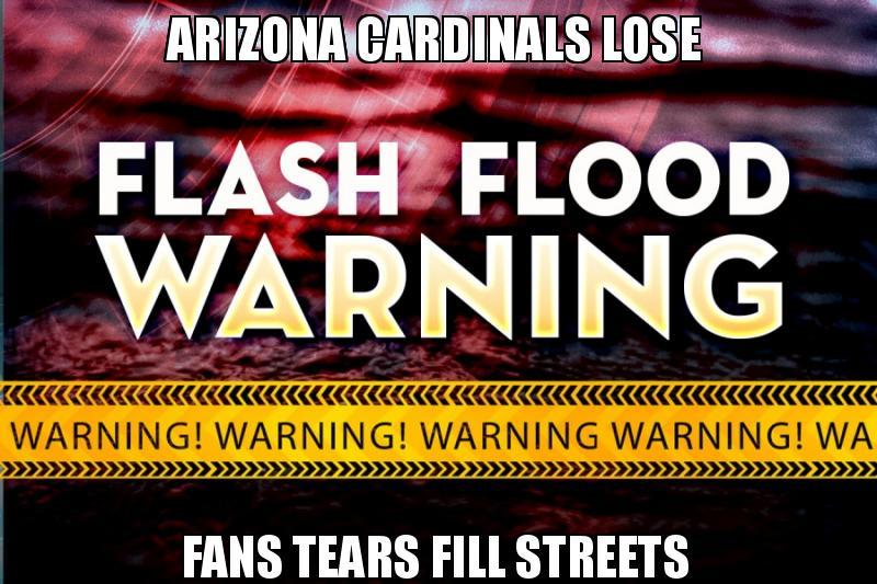 Arizona Cardinals Lose Fans Tears Fill Streets Make A Meme