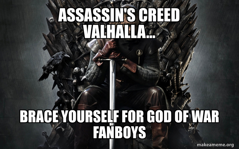 Assassin S Creed Valhalla Brace Yourself For God Of War Fanboys