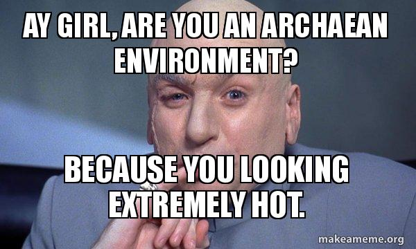 Ay Girl Are You An Archaean Environment Because You Looking