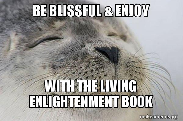 Be Blissful & Enjoy With The Living Enlightenment Book - Satisfied