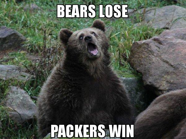 Bears Lose Packers Win Today Was A Good Day Make A Meme