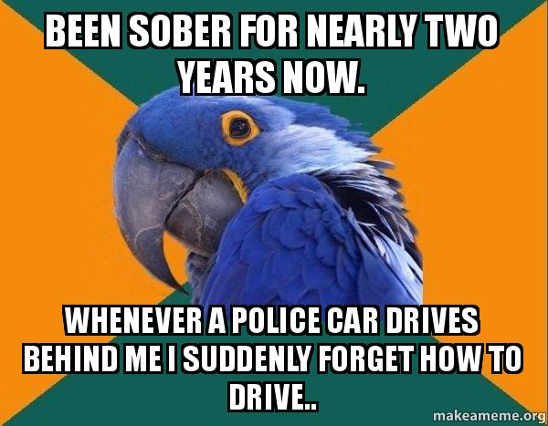 Make Your Own Car >> Been sober for nearly two years now. Whenever a police car drives behind me I suddenly forget ...
