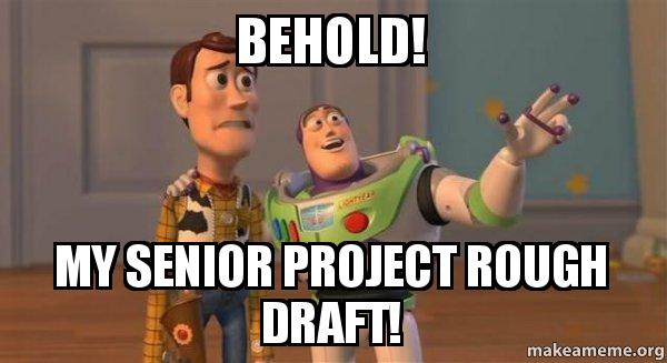 Behold! My senior project rough draft! - Buzz and Woody (Toy Story ...