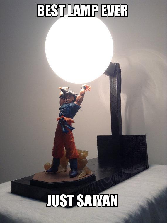 best lamp ever just saiyan saiyan make a meme