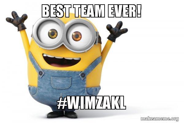 best team ever wimzakl happy minion make a meme