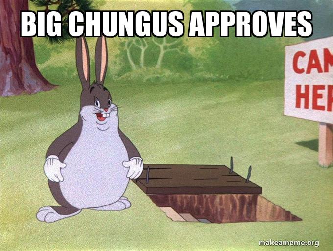Big Chungus Approves Make A Meme