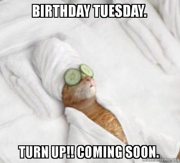 Birthday Tuesday. Turn Up!! Coming Soon.