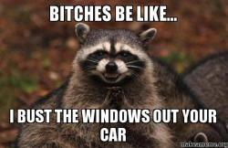 i bust the windows out your car meme