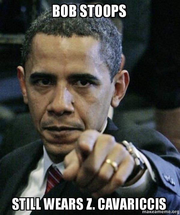 bob stoops still bob stoops still wears z cavariccis angry obama make a meme