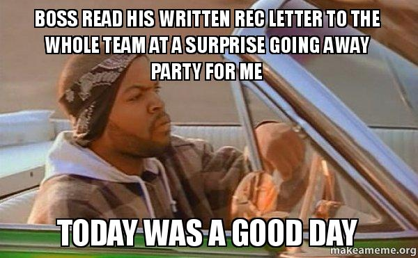 Boss Read His Written Rec Letter To The Whole Team At A Surprise