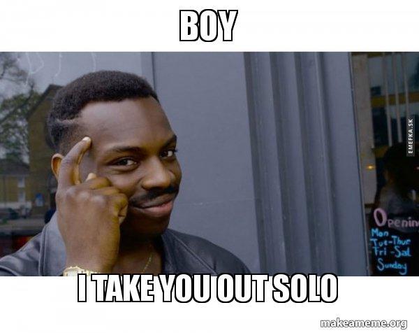 Black guy solo