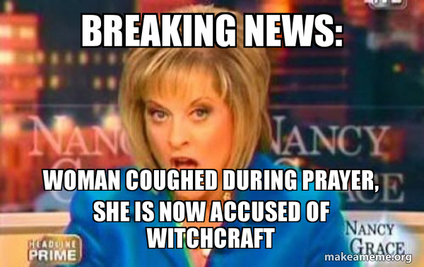 Breaking News Woman Coughed During Prayer She Is Now Accused Of