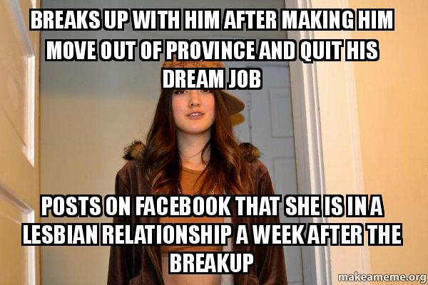 Breaks up with him after making him move out of province and