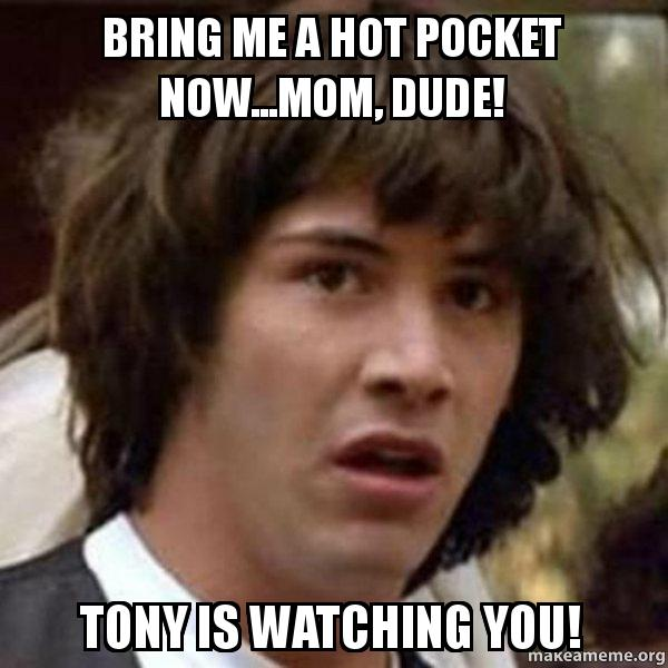 bring me a 8v8mxf bring me a hot pocket now mom, dude! tony is watching you