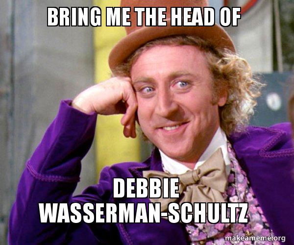 Are mistaken. debbie wasserman schultz meme