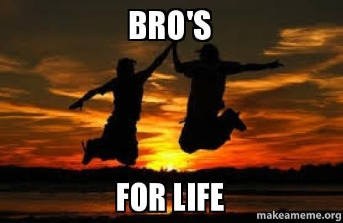 bros for life bro's for life make a meme