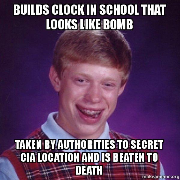 Builds clock in school that looks like bomb taken by ...