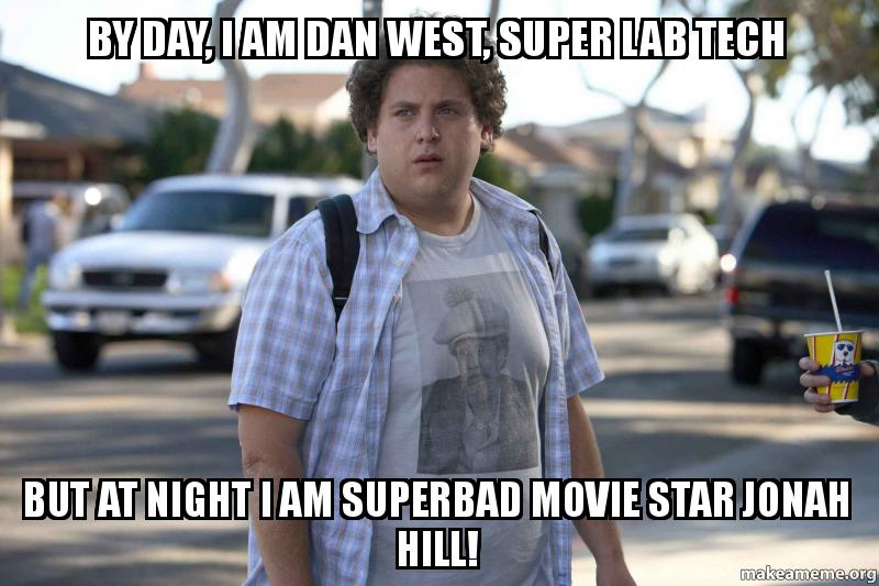 Tech But At Night I Am Superbad Movie Star Jonah Hill Make A Meme