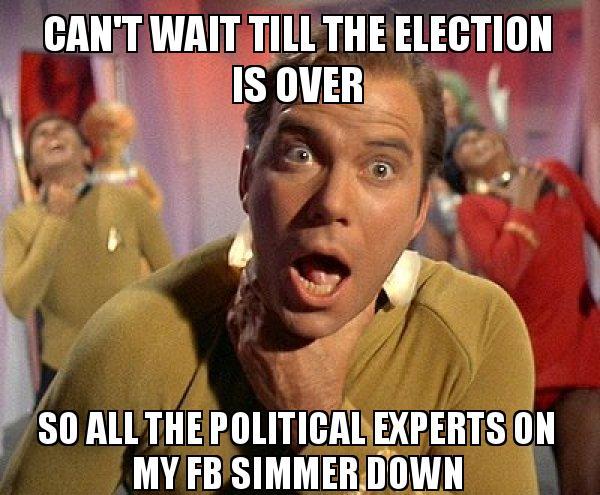 experts on my FB simmer down - Captain Kirk Choking | Make a Meme