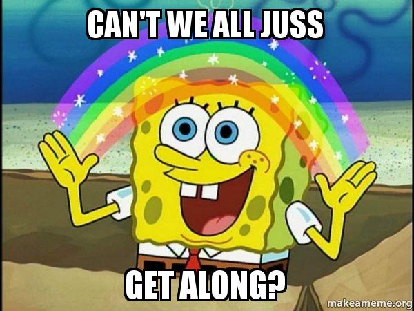 Rainbow Spongbob meme