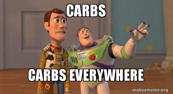 Carbs Carbs everywhere - Buzz and Woody (Toy Story) Meme | Make a Meme