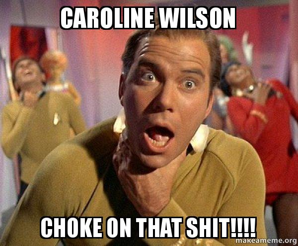 caroline wilson choke caroline wilson choke on that shit!!!! captain kirk choking make
