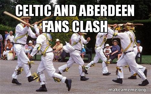 Celtic And Aberdeen Fans Clash Make A Meme
