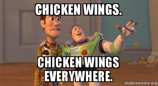 ... Wings Everywhere. - Buzz and Woody (Toy Story) Meme | Make a Meme