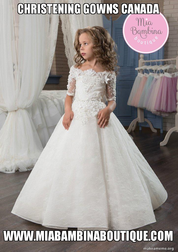 Christening gowns Canada www.miabambinaboutique.com - Christening ...