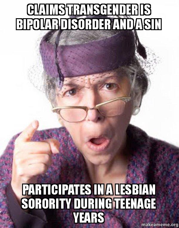 claims transgender is jt4dmi claims transgender is bipolar disorder and a sin participates in a