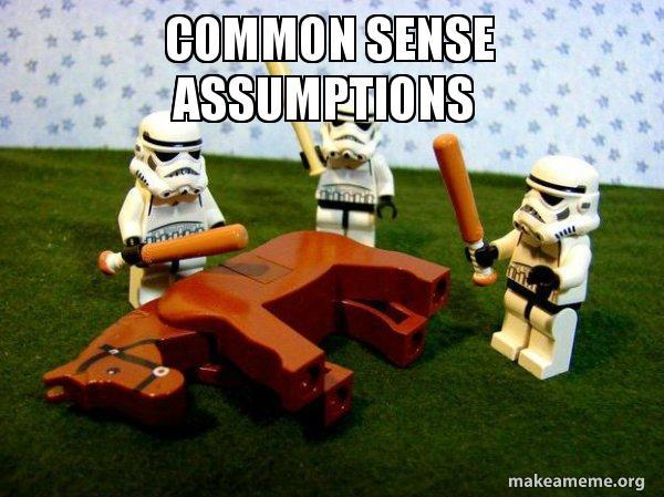 common sense assumptions