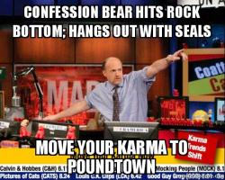 Mad Karma with Jim Cramer meme