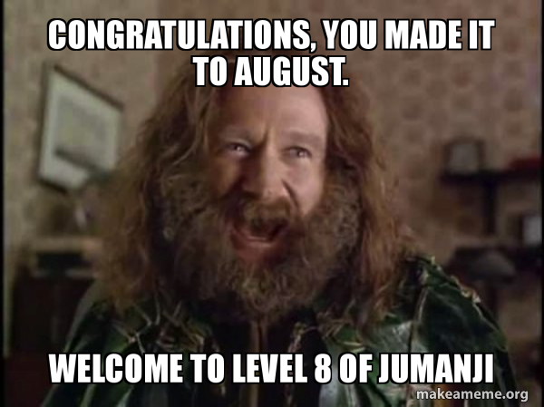 Robin Williams - What year is it? Jumanji meme
