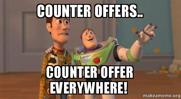 counter offers counter counter offers counter offer everywhere! buzz and woody (toy,Counter Meme