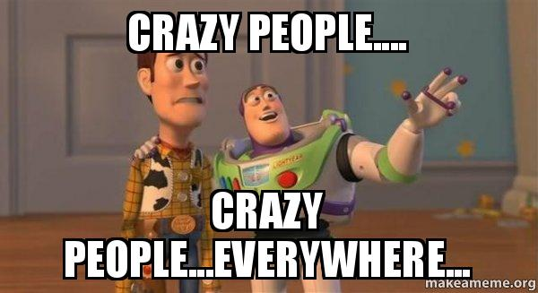 crazy people crazy crazy people crazy people everywhere buzz and woody