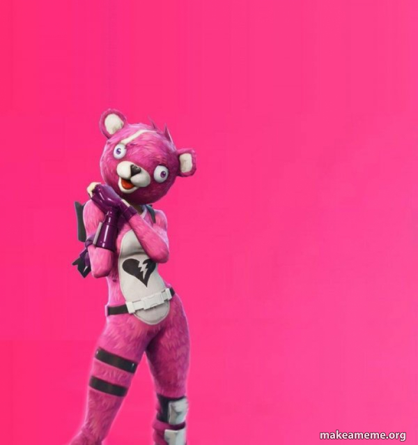 Creepy Bear Fortnite meme