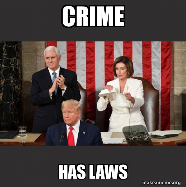Nancy Pelosi ripping Trump's speech up meme