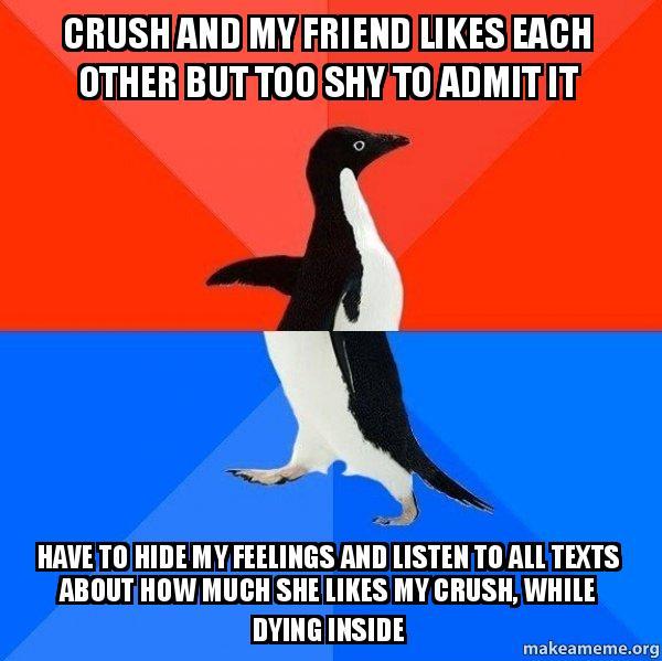 Is my crush shy