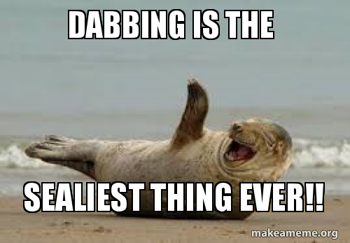 Image result for a seal dabbing