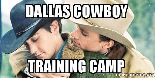Cowboys Vs Raiders >> Dallas cowboy training camp - | Make a Meme