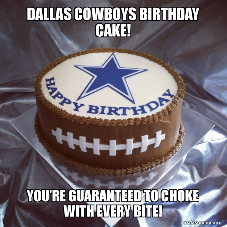 Awesome Dallas Cowboys Birthday Cake Youre Guaranteed To Choke With Personalised Birthday Cards Veneteletsinfo