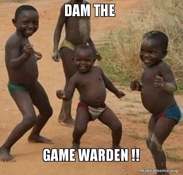 Dam The Game Warden Dancing Black Kids Make A Meme