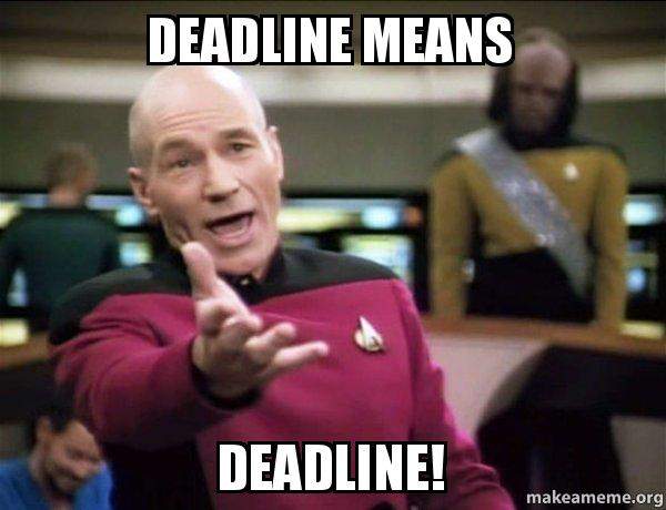 Image result for deadline meme