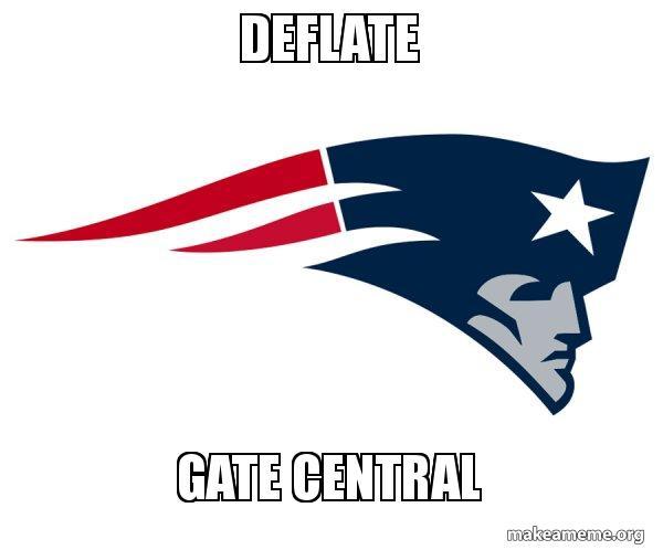 Deflate Gate Central New England Patriots Make A Meme