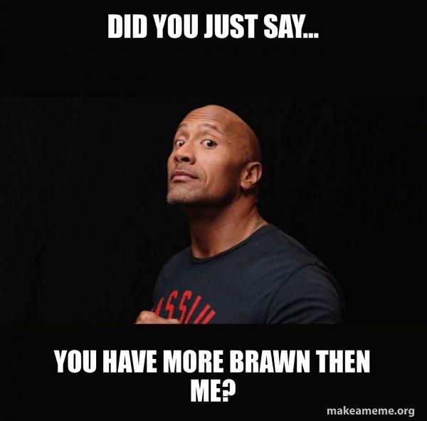Dwayne Johnson (The Rock) meme