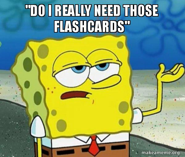 Do I really need those flashcards