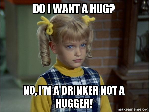 Image result for i'm not a hugger
