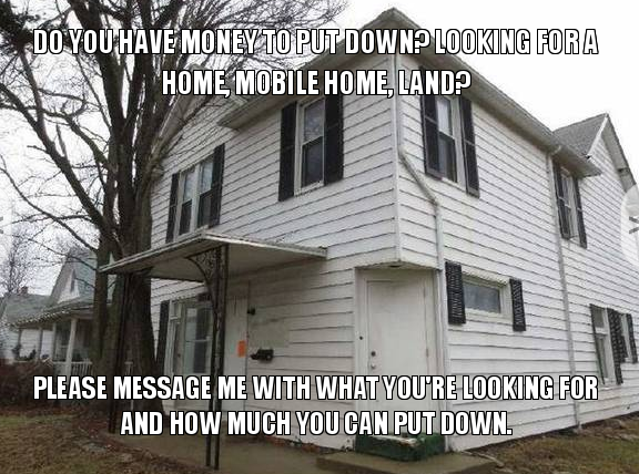 Do you have money to put down? Looking for a home, mobile ... Mobile Home Roofing Memne on